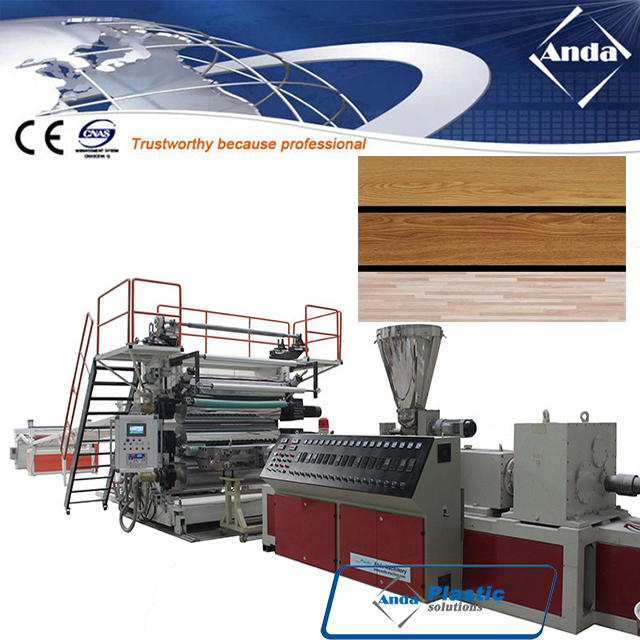 PVC vinyl floor plank making machine,production equipment