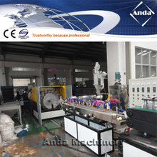 PVC fiber braided reinforced pipe extrusion line
