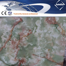 high glossy UV coating PVC marble sheet and profiles