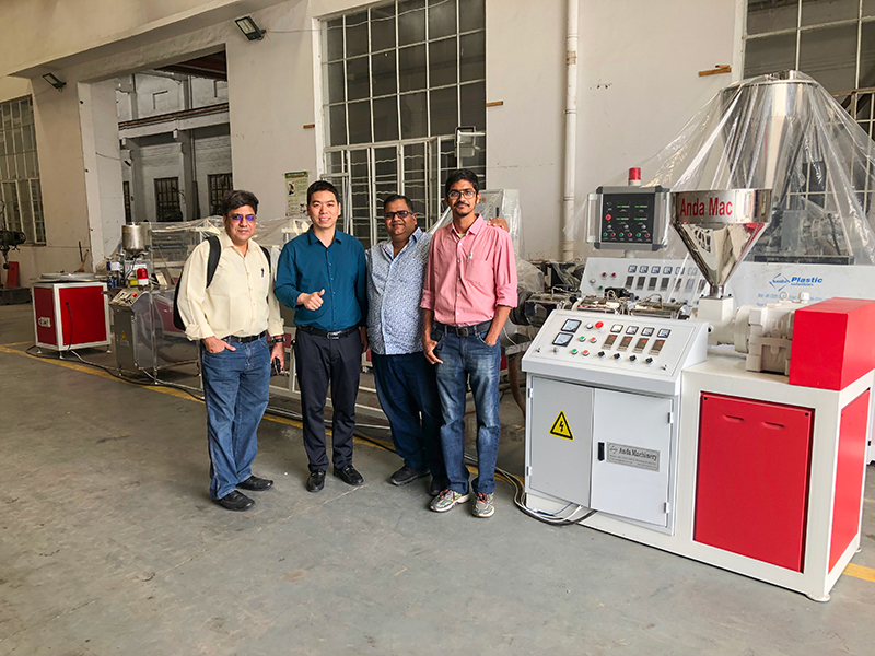 Congruations: Single-screw pvc edge band extrusion line has run successfully