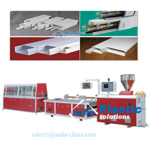 pvc wire cable duct making machine