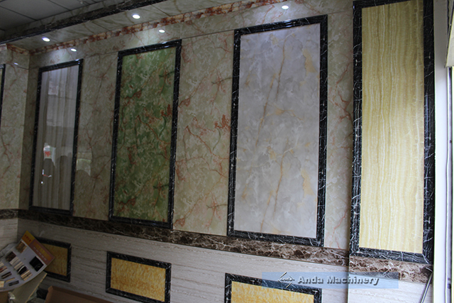 PVC decorative marble sheet for wall decoration