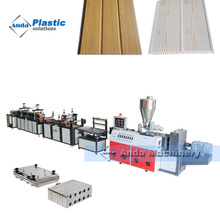 Most Professional PVC Ceiling Panel Production Line with Conical Twin Screw Extruder
