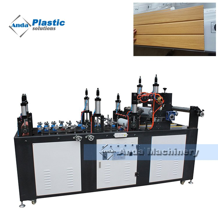 roller glue online lamination and hot stamping machine for pvc wall panel