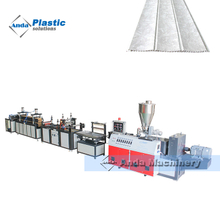 PVC wall panel making machine with double screw extruder