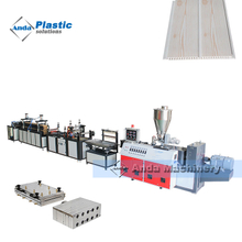 PVC ceiling making machine with double screw extruder