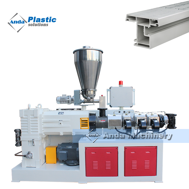 PVC window frame profile production line manufacturer